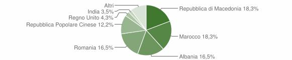 Grafico cittadinanza stranieri - Ripe San Ginesio 2010