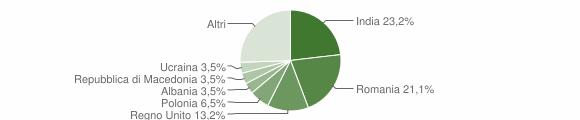Grafico cittadinanza stranieri - Amandola 2018