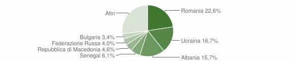 Grafico cittadinanza stranieri - Gabicce Mare 2019