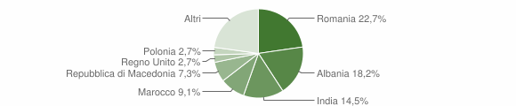 Grafico cittadinanza stranieri - Caldarola 2019