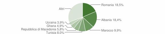 Grafico cittadinanza stranieri - Osimo 2013