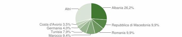 Grafico cittadinanza stranieri - Ostra Vetere 2009