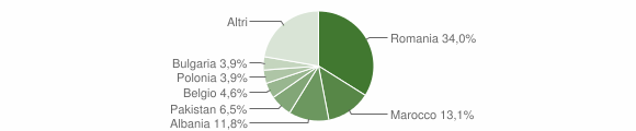 Grafico cittadinanza stranieri - Monterubbiano 2018