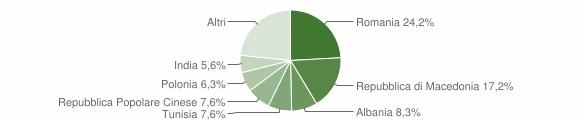 Grafico cittadinanza stranieri - Castelbellino 2019