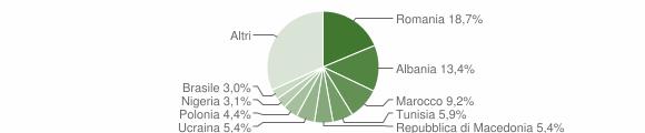 Grafico cittadinanza stranieri - Loreto 2009