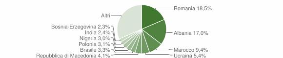 Grafico cittadinanza stranieri - Loreto 2013