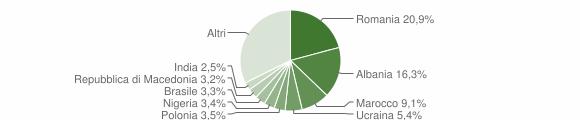 Grafico cittadinanza stranieri - Loreto 2015