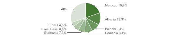 Grafico cittadinanza stranieri - Terre Roveresche 2009