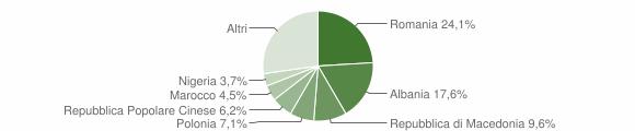 Grafico cittadinanza stranieri - Folignano 2019