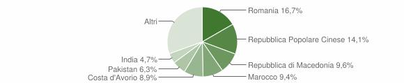 Grafico cittadinanza stranieri - Serra de' Conti 2019
