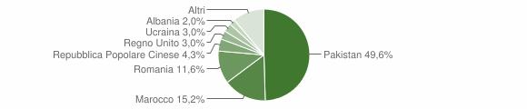 Grafico cittadinanza stranieri - Mogliano 2009
