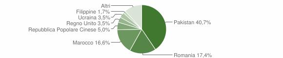 Grafico cittadinanza stranieri - Mogliano 2015