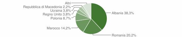 Grafico cittadinanza stranieri - Montappone 2013