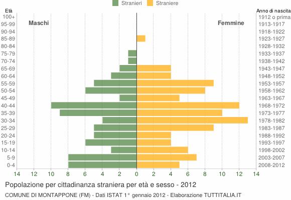 Grafico cittadini stranieri - Montappone 2012