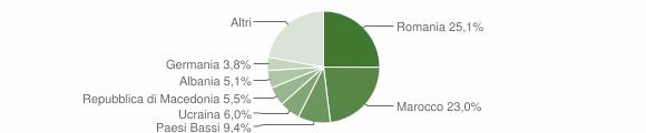 Grafico cittadinanza stranieri - San Lorenzo in Campo 2019