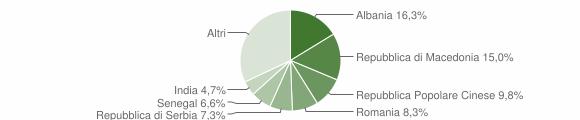 Grafico cittadinanza stranieri - Tolentino 2011