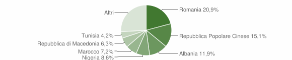 Grafico cittadinanza stranieri - Trecastelli 2013