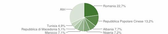Grafico cittadinanza stranieri - Trecastelli 2016