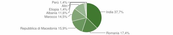 Grafico cittadinanza stranieri - Camporotondo di Fiastrone 2018