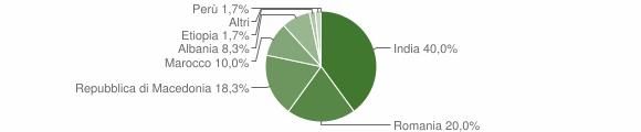 Grafico cittadinanza stranieri - Camporotondo di Fiastrone 2019