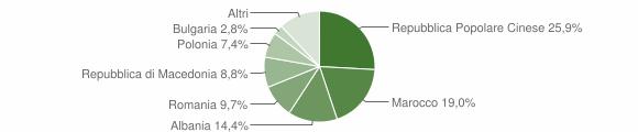 Grafico cittadinanza stranieri - Rapagnano 2019