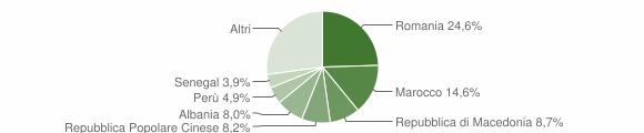 Grafico cittadinanza stranieri - Treia 2019