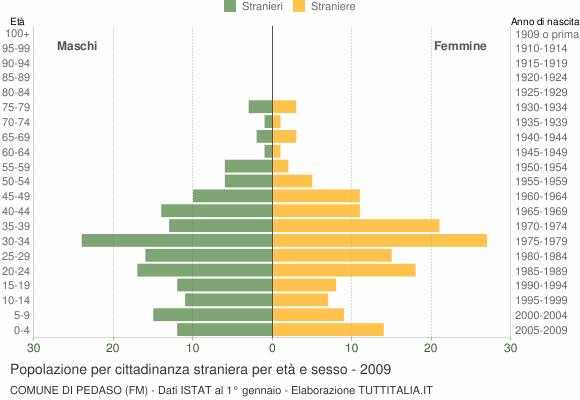 Grafico cittadini stranieri - Pedaso 2009