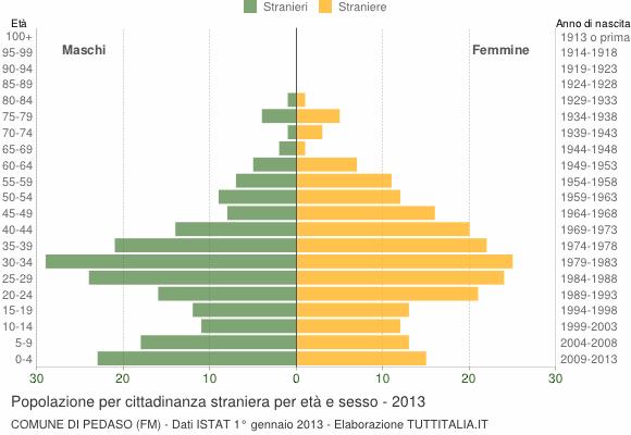 Grafico cittadini stranieri - Pedaso 2013