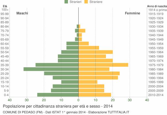 Grafico cittadini stranieri - Pedaso 2014