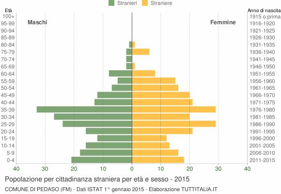 Grafico cittadini stranieri - Pedaso 2015