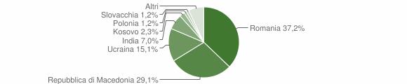 Grafico cittadinanza stranieri - Visso 2016