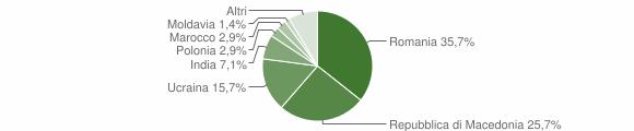 Grafico cittadinanza stranieri - Visso 2019