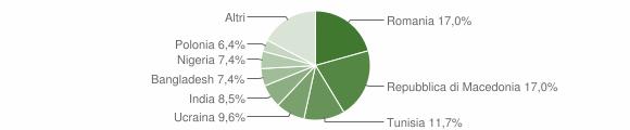 Grafico cittadinanza stranieri - Mergo 2010
