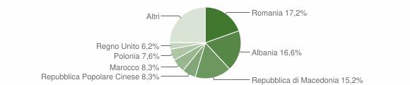 Grafico cittadinanza stranieri - Servigliano 2011
