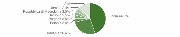 Grafico cittadinanza stranieri - Comunanza 2019