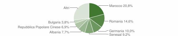 Grafico cittadinanza stranieri - Sant'Ippolito 2019