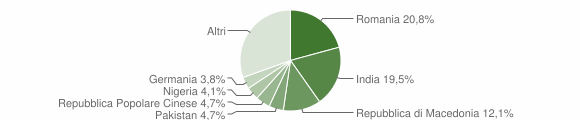Grafico cittadinanza stranieri - Cupramontana 2019