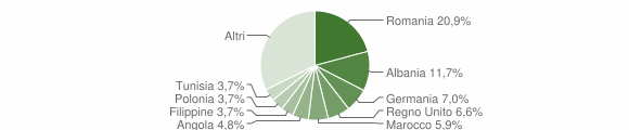 Grafico cittadinanza stranieri - Ripatransone 2019