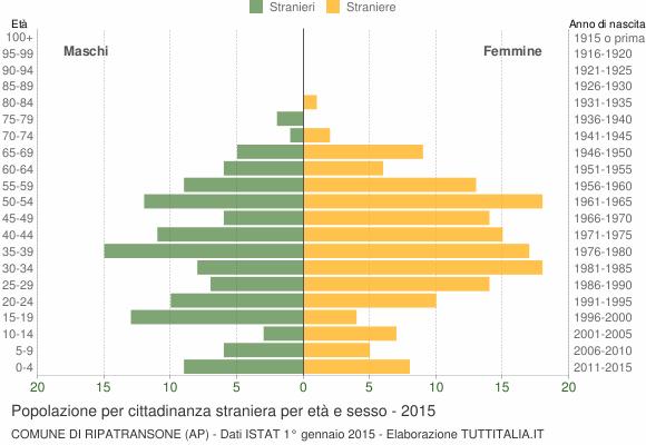 Grafico cittadini stranieri - Ripatransone 2015