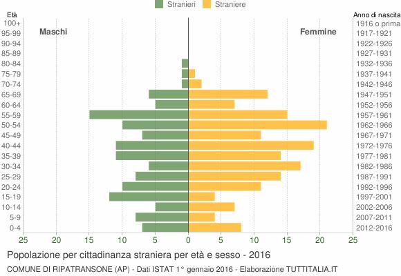 Grafico cittadini stranieri - Ripatransone 2016