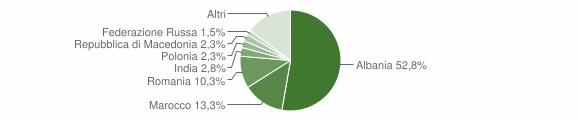 Grafico cittadinanza stranieri - Cupra Marittima 2009