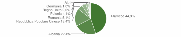 Grafico cittadinanza stranieri - Monte Vidon Corrado 2010
