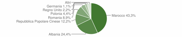 Grafico cittadinanza stranieri - Monte Vidon Corrado 2011