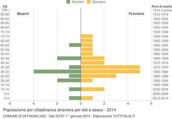 Grafico cittadini stranieri - Offagna 2014