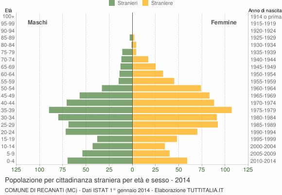 Grafico cittadini stranieri - Recanati 2014