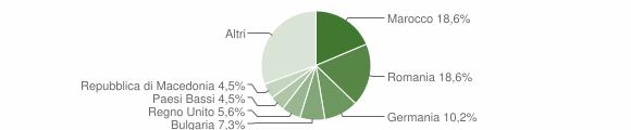 Grafico cittadinanza stranieri - Montefiore dell'Aso 2018