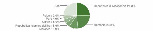Grafico cittadinanza stranieri - Polverigi 2018