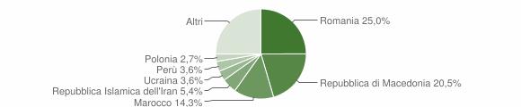 Grafico cittadinanza stranieri - Polverigi 2019