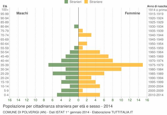 Grafico cittadini stranieri - Polverigi 2014