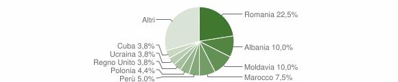 Grafico cittadinanza stranieri - Sirolo 2009